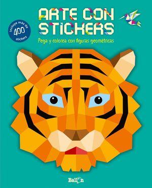 ARTE CON STICKERS - TIGRE
