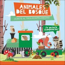 ANIMALES DEL BOSQUE. LIBRO + TREN-ROMPECABEZAS