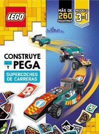 LEGO - CONSTRUYE Y PEGA SUPERCOCHES DE CARRERAS (CAJA)